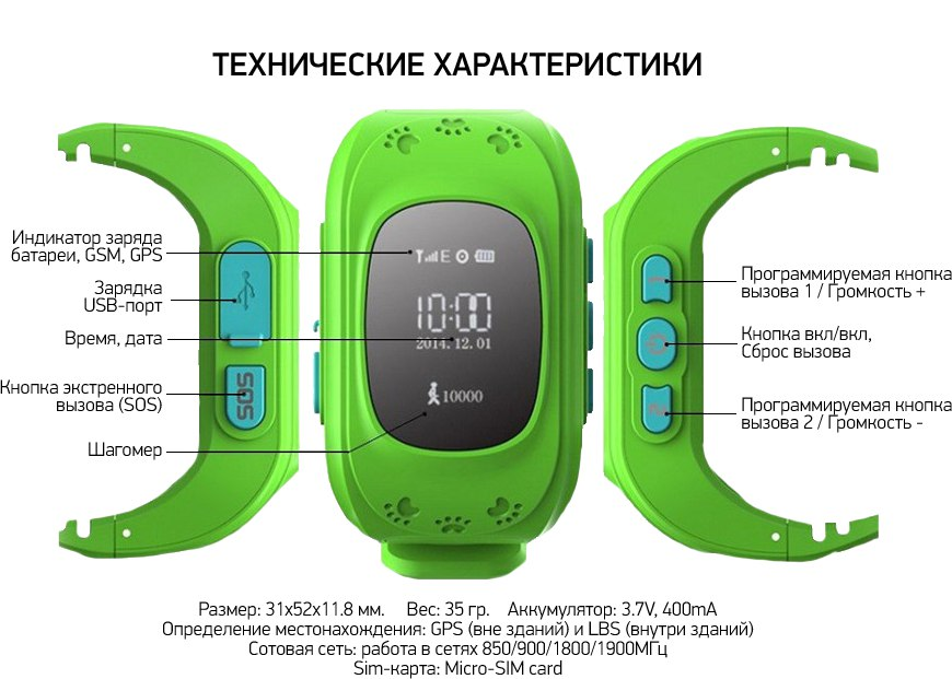 инструкция для часов Q50 - фото 11
