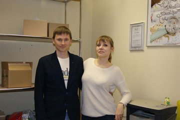 Наш офис. Алексей и Елена на работе.